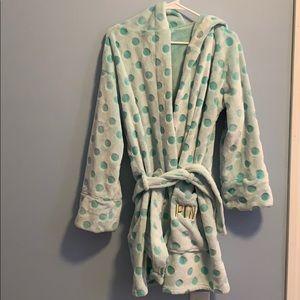 Blueish green PINK robe